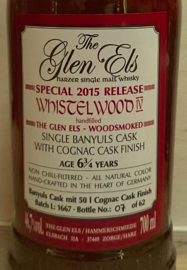 Glen Els Whistelwood Iv Ratings And Reviews Whiskybase