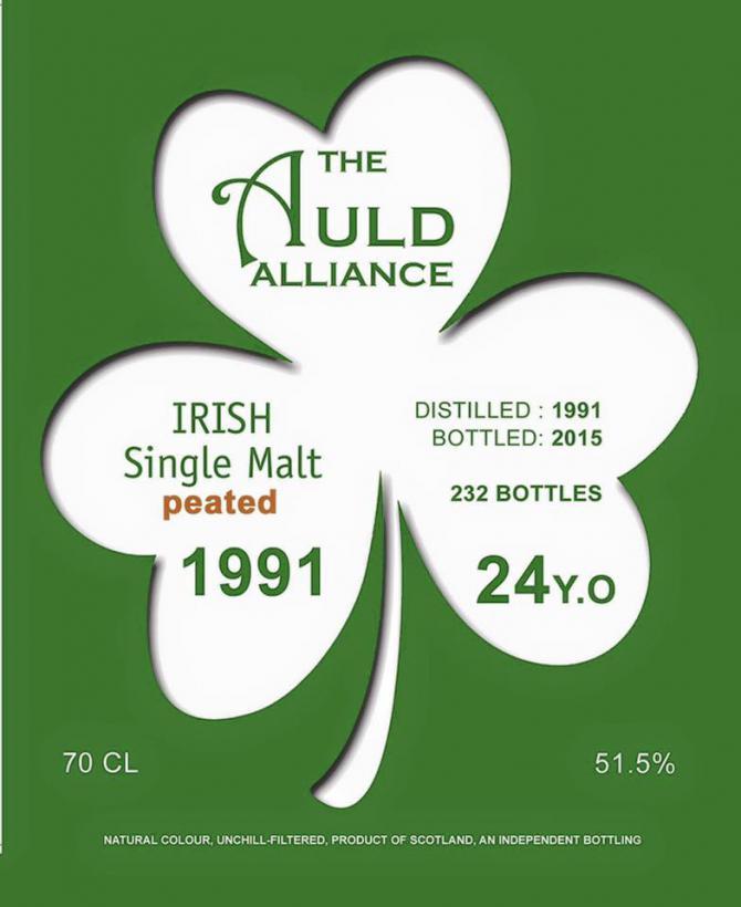 Irish Single Malt 1991 TAA Peated