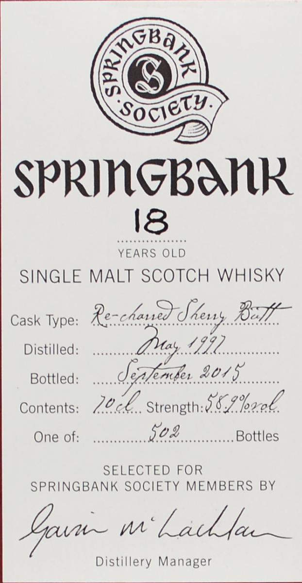 Springbank 1997