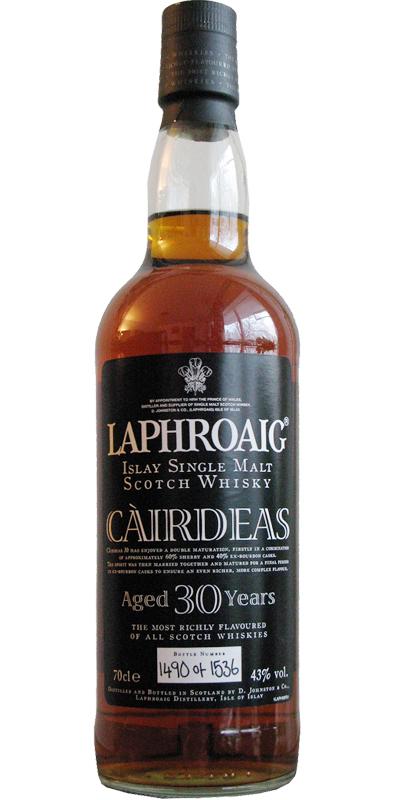 Laphroaig Càirdeas - 30-year-old