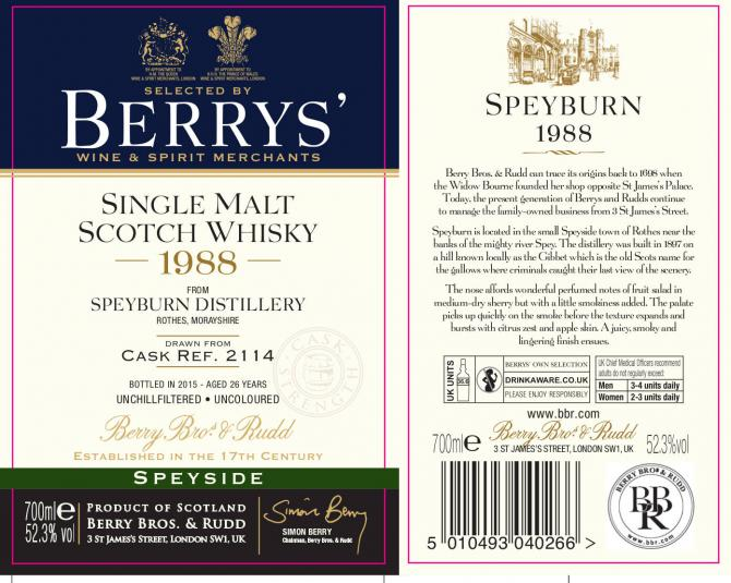 Speyburn 1988 BR