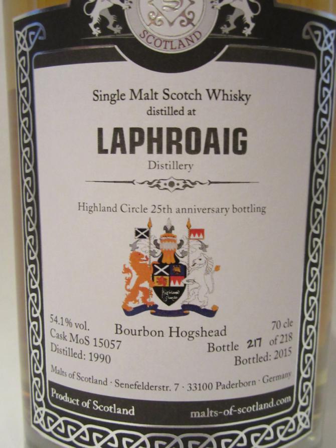 Laphroaig 1990 MoS