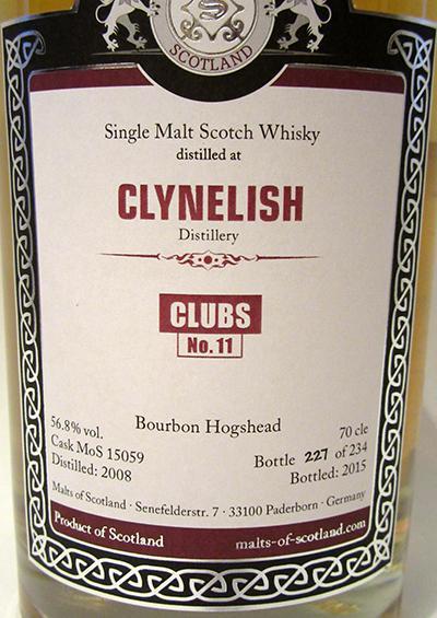 Clynelish 2008 MoS
