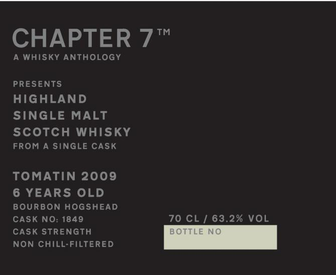 Tomatin 2009 Ch7