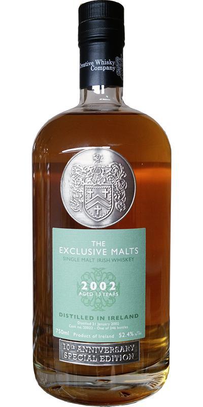 Single Malt Irish Whiskey 2002 CWC