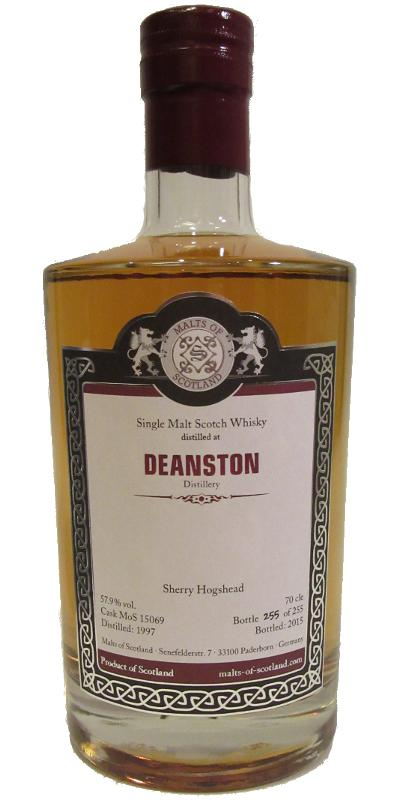 Deanston 1997 MoS