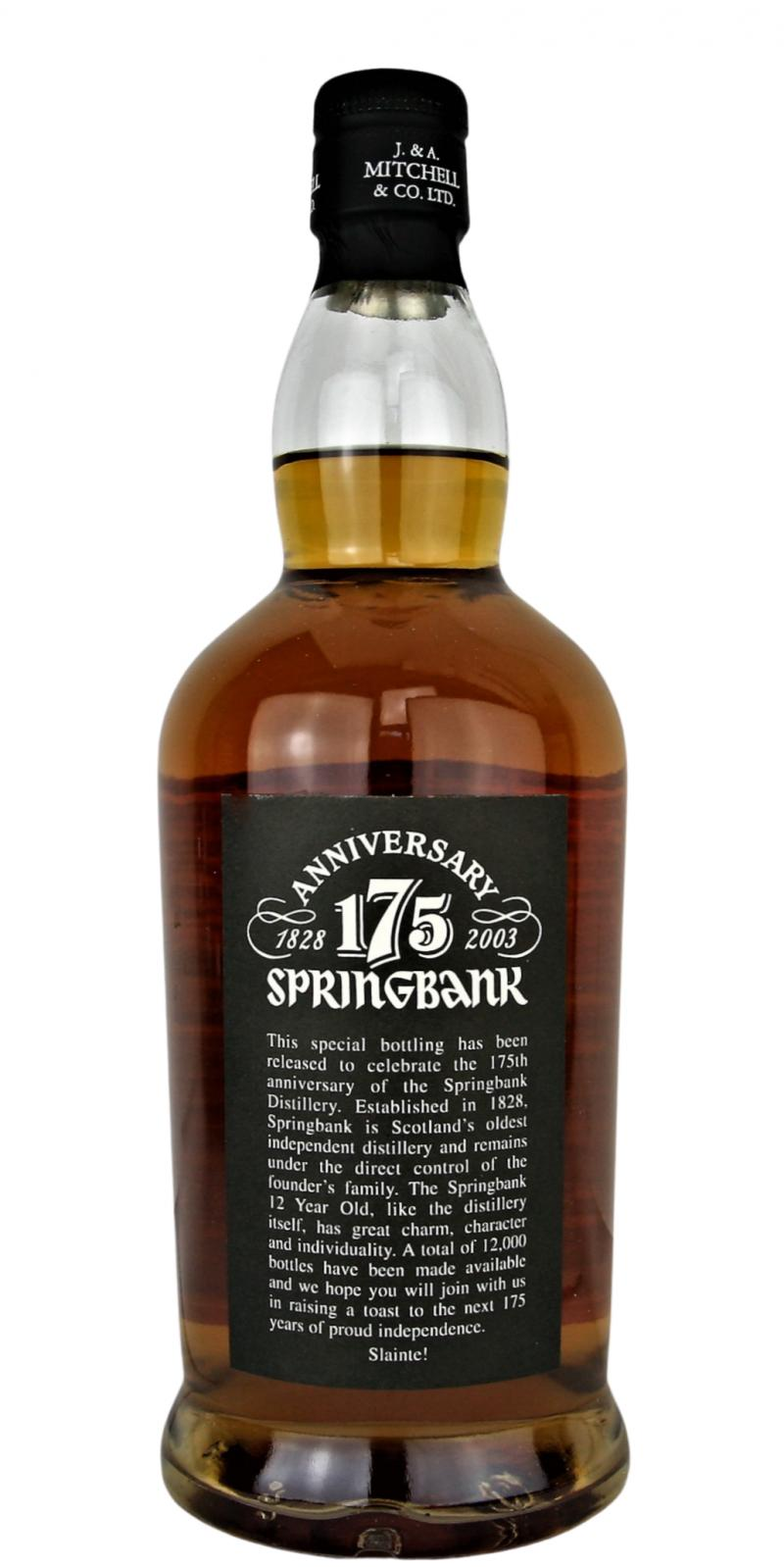 Springbank 175th Anniversary