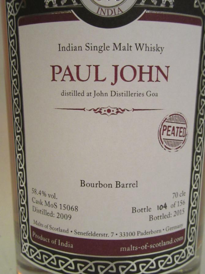 Paul John 2009 MoS