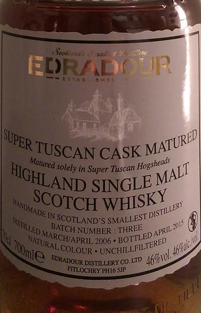 Edradour 2006 Super Tuscan
