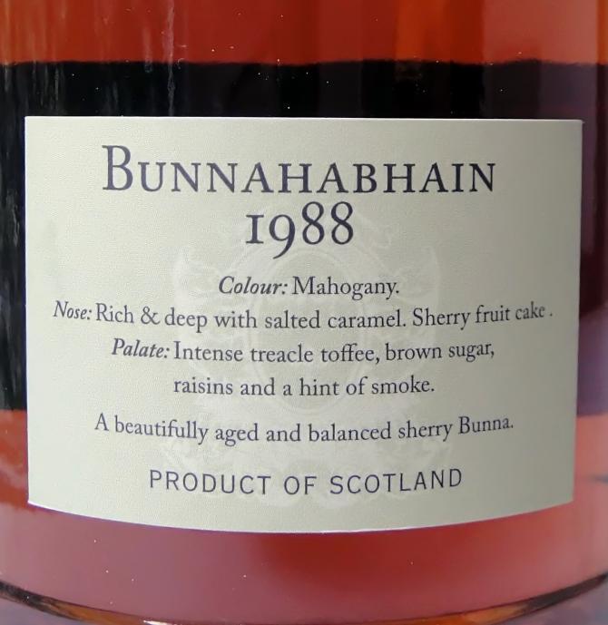 Bunnahabhain 1988 DR