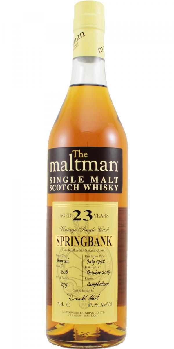 Springbank 1992 MBl