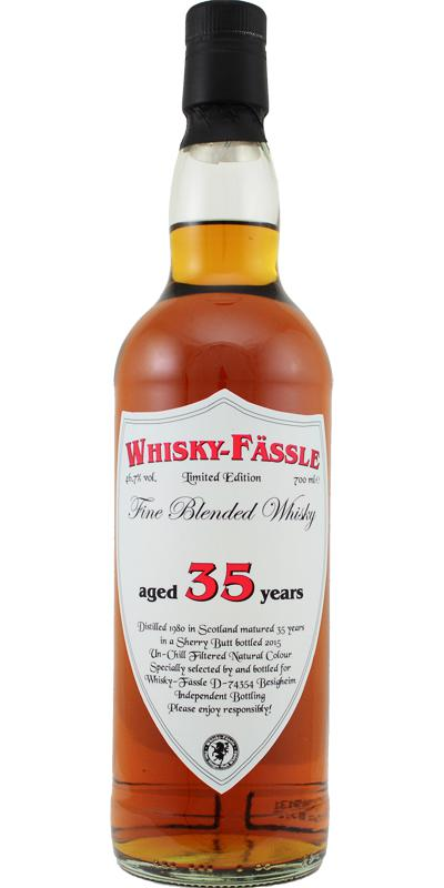 Fine Blended Whisky 1980 W-F