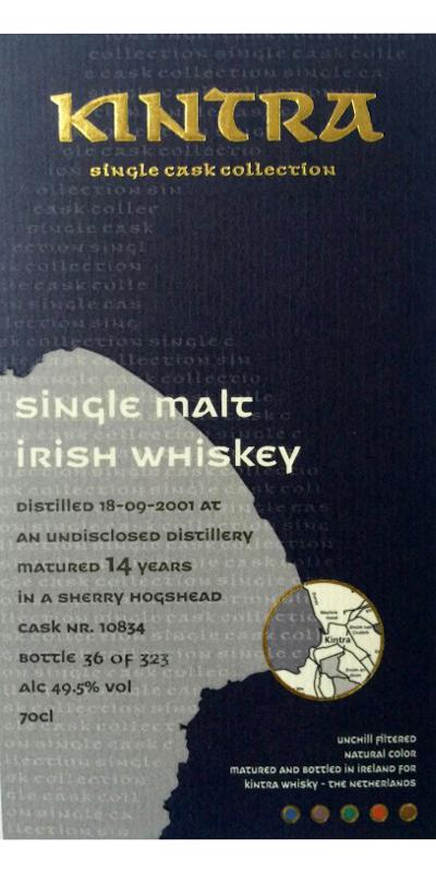 Single Malt Irish Whiskey 2001 KiW
