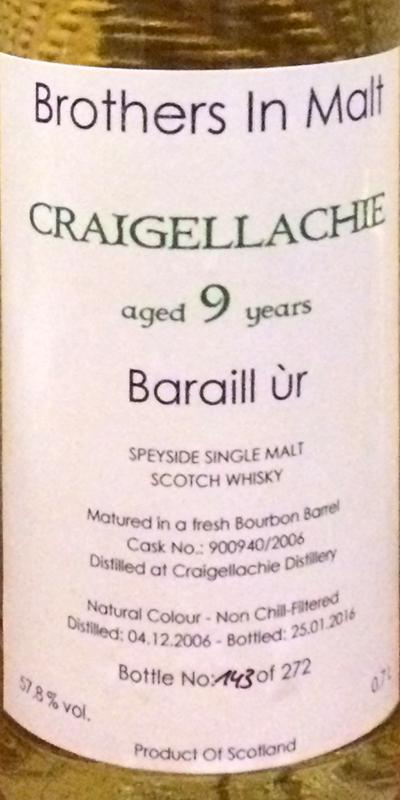 Craigellachie 2006 BiM