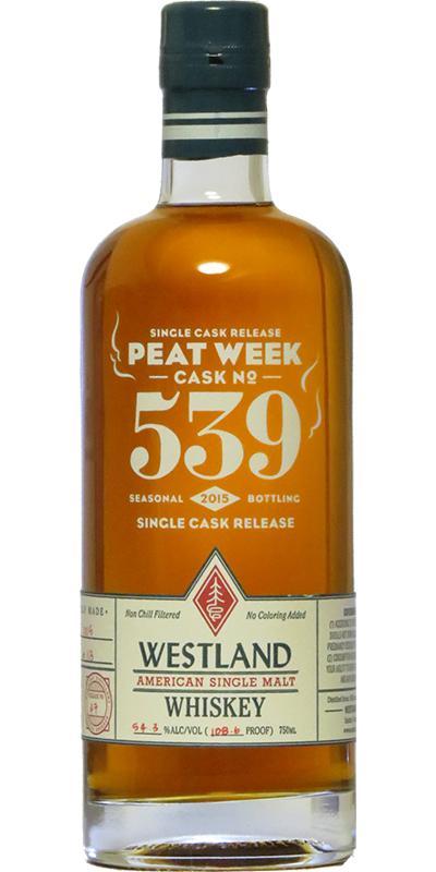 Westland Cask No. 539