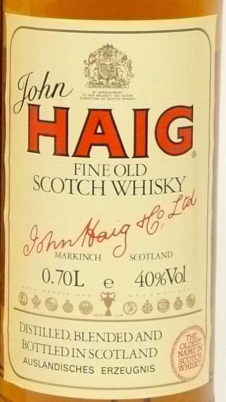 John Haig Fine Old Scotch Whisky