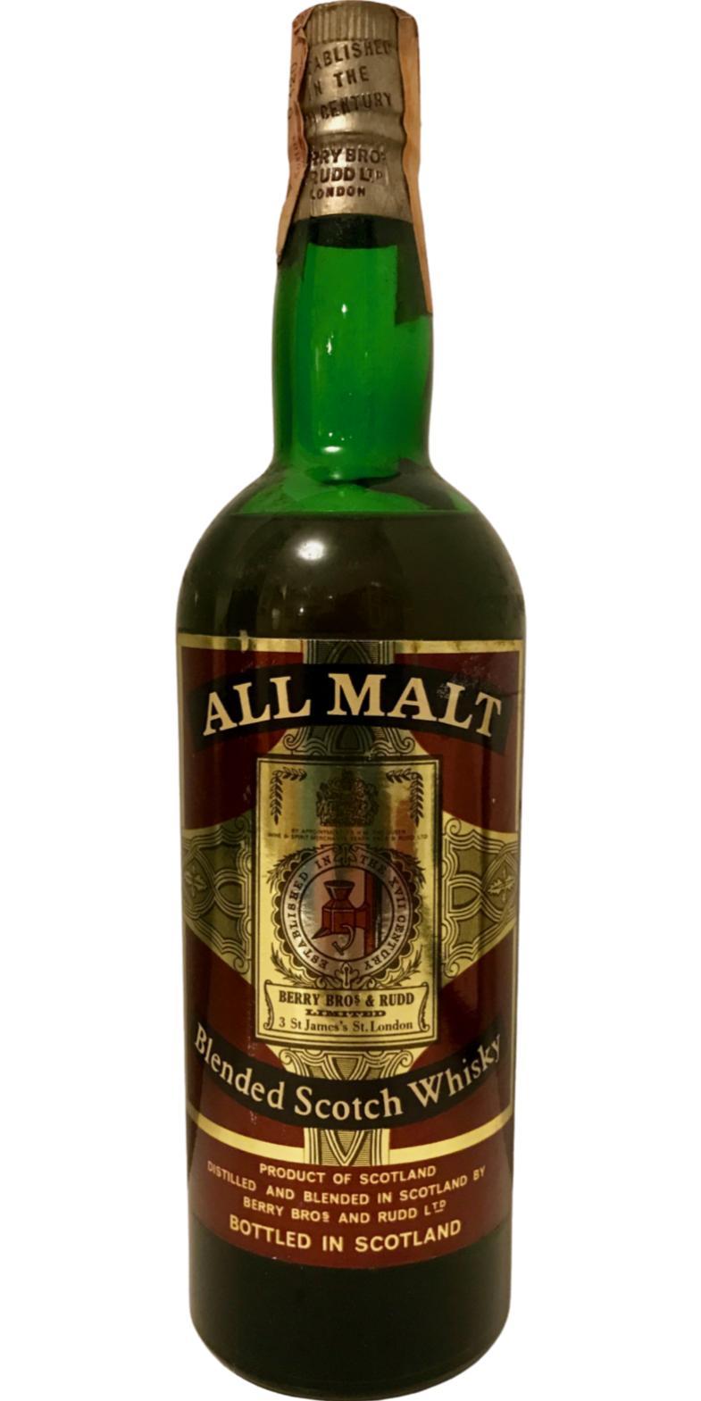 Berry's All Malt Blended Scotch Whisky