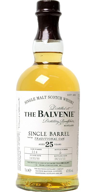 Balvenie 25 Jahre Single Barrel Oak 47,8% 0,70l