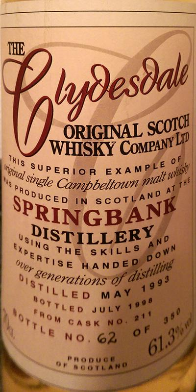 Springbank 1993 TCO