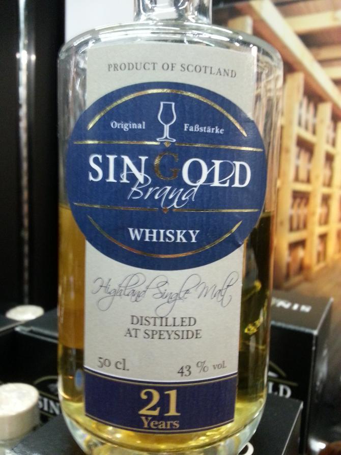 Speyside Distillery 21-year-old SIN