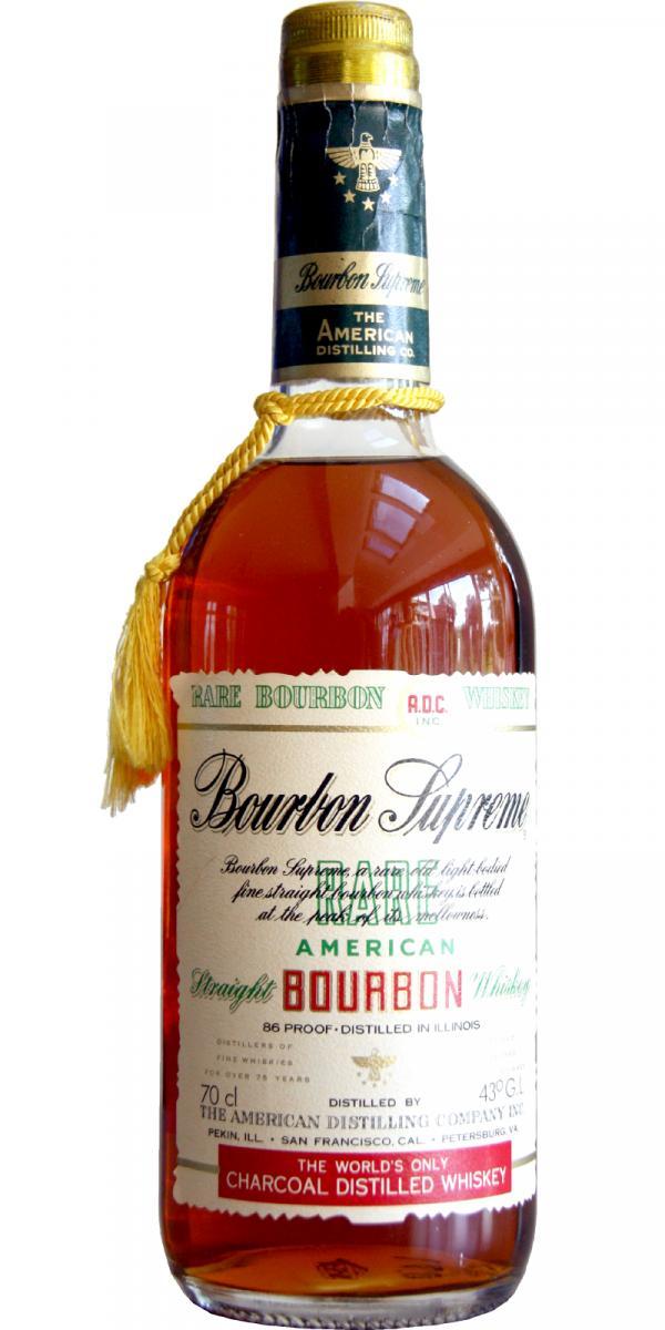Bourbon Supreme American Straight Bourbon Whiskey