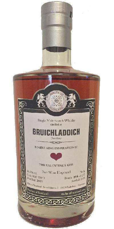 Bruichladdich 2003 - The Valentines Kiss MoS
