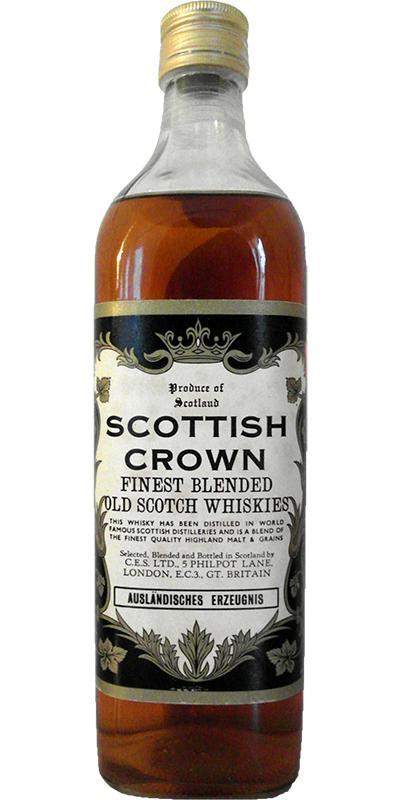 Scottish Crown Finest Blended Old Scotch Whisky