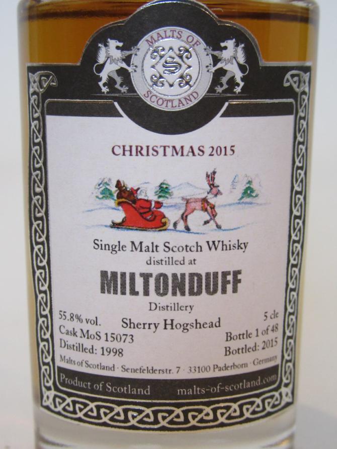 Miltonduff 1998 MoS
