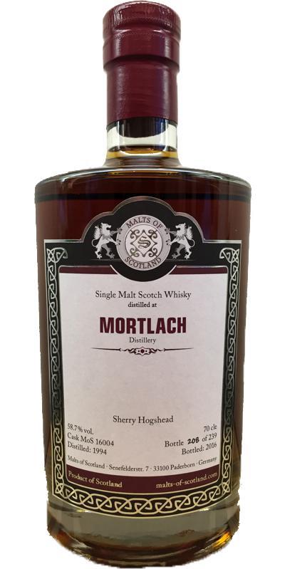 Mortlach 1994 MoS