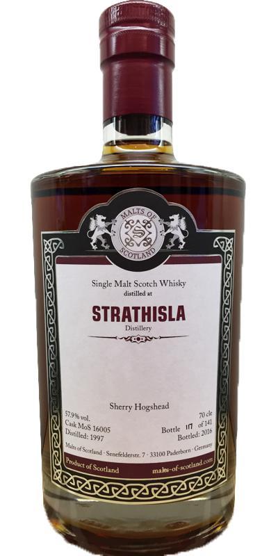 Strathisla 1997 MoS