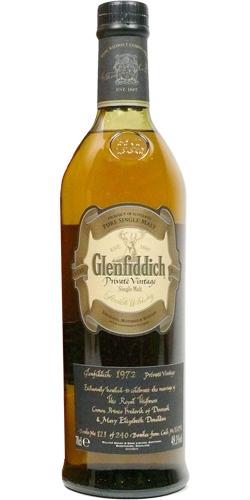 Glenfiddich 1972 Private Vintage