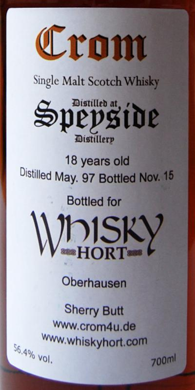 Speyside Distillery 1997 Cr