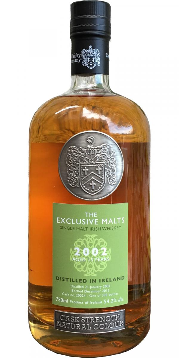 Irish Single Malt Whiskey 2002 CWC