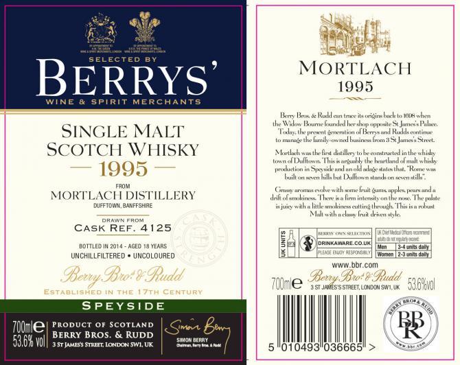 Mortlach 1995 BR