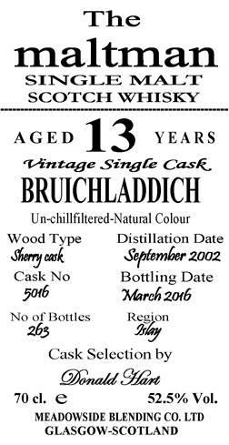 Bruichladdich 2002 MBl