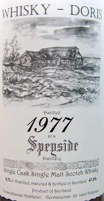 A Speyside Distillery 1977 WD