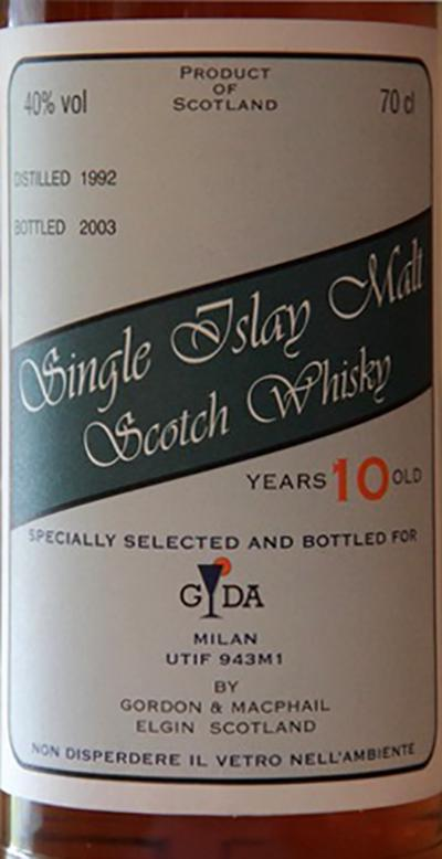 Single Islay Malt 1992 GM