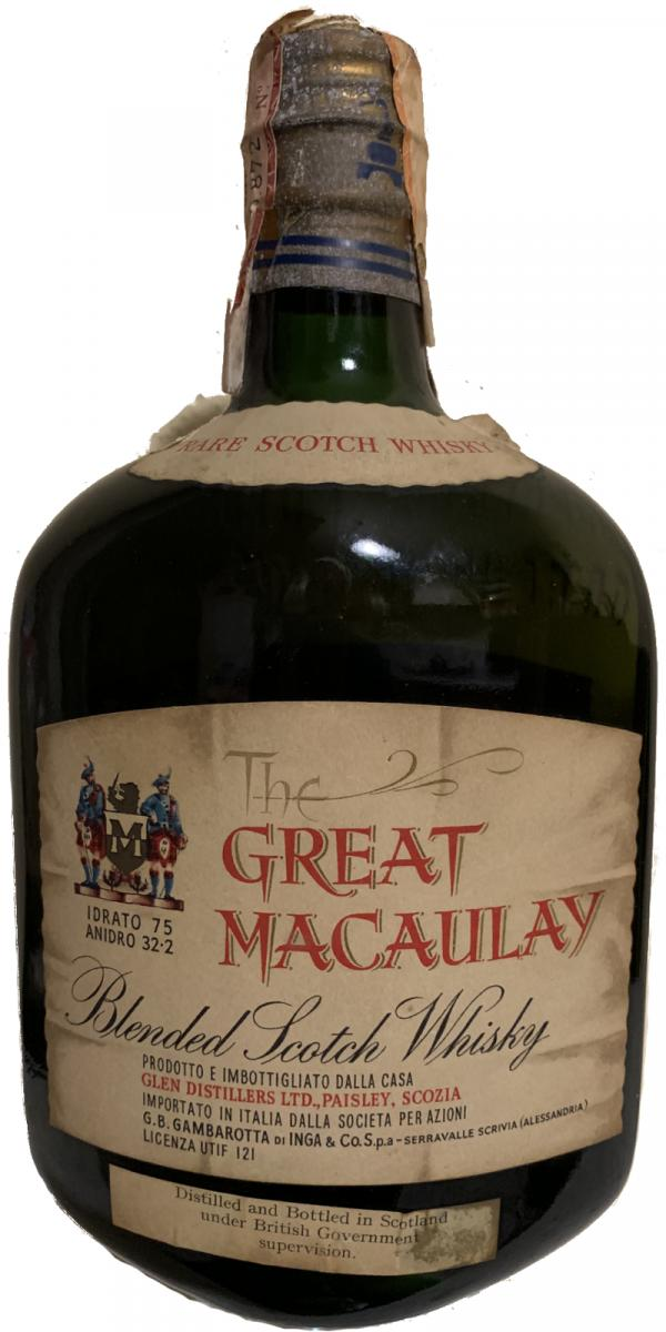 The Great Macaulay Rare Scotch Whisky