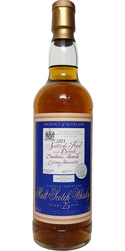 Single Speyside Malt Scotch Whisky 25-year-old GM