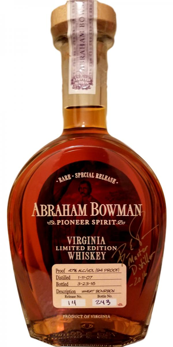 Abraham Bowman 2007 Wheat Bourbon