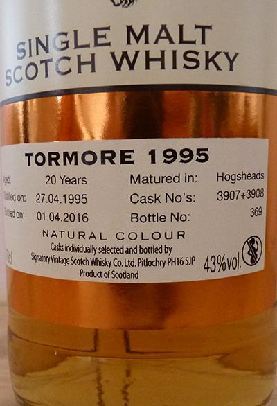 Tormore 1995 SV