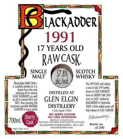 Glen Elgin 1991 BA