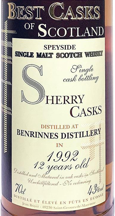 Benrinnes 1992 JB