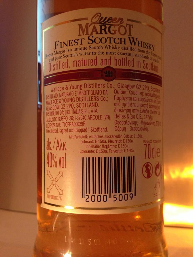 Queen Margot Finest Scotch Whisky W&Y