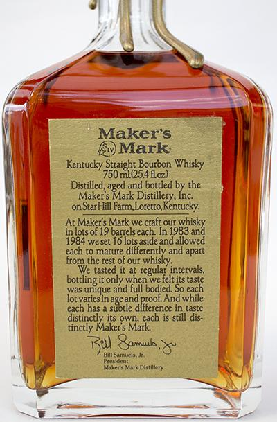 Maker's Mark 1983 Vintage Bourbon