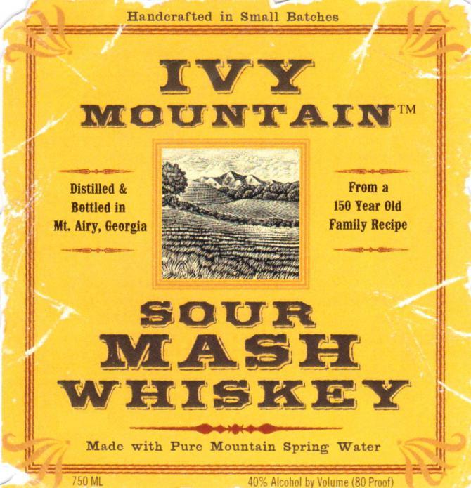Ivy Mountain Sour Mash Whiskey