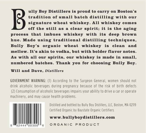 Bully Boy Distillers Whiskey