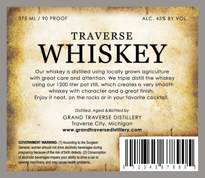 Grand Traverse Traverse Whiskey