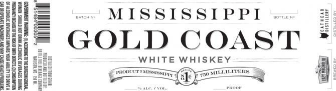 Cathead Distillery Mississippi Gold Coast