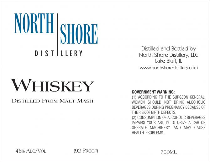 North Shore Distillery Whiskey